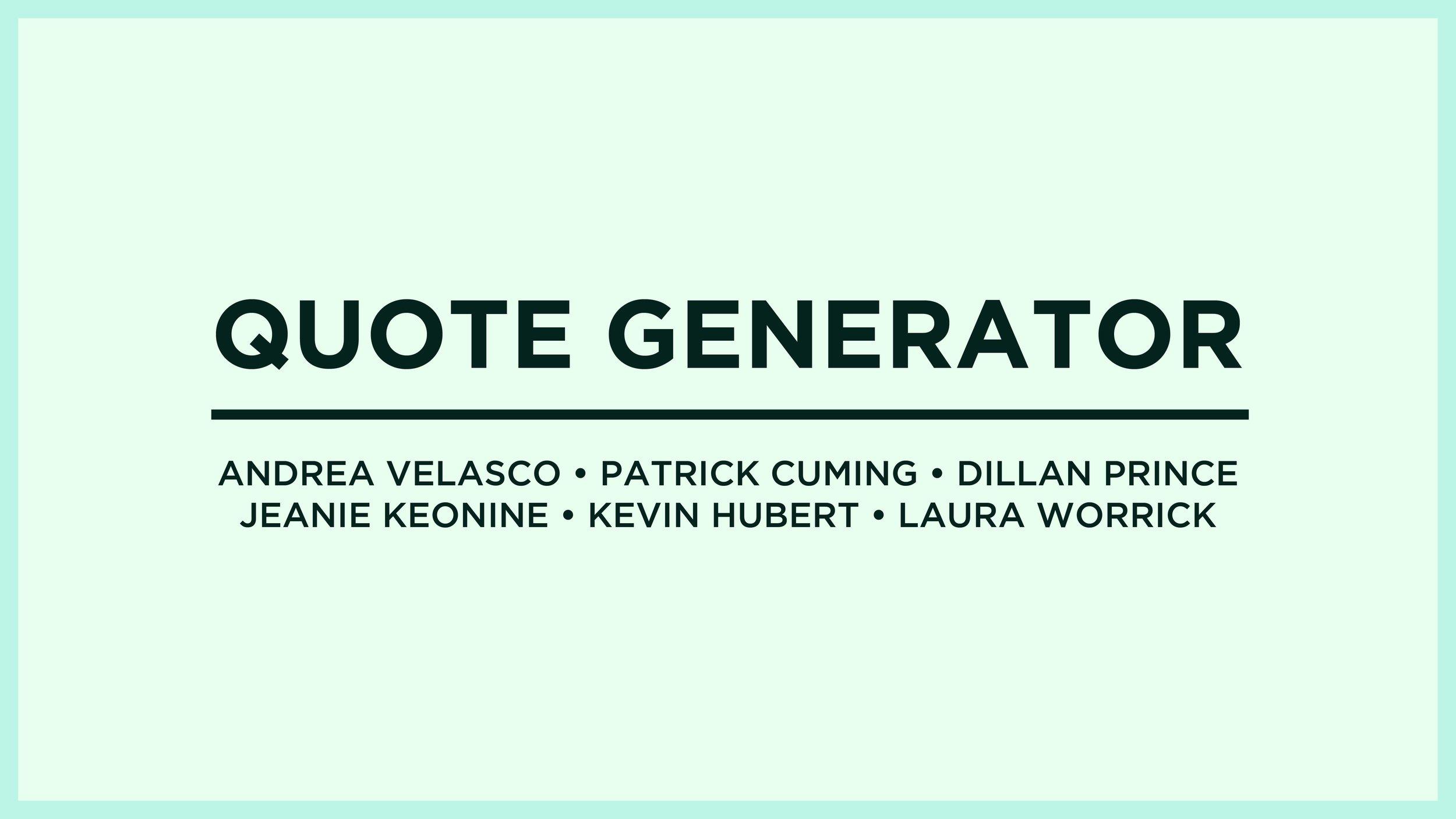 Quote Generator — Laura Worrick