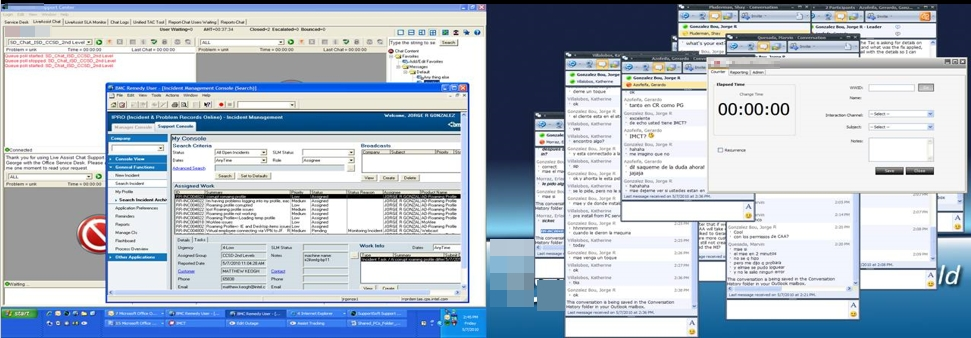 Typical Agent Desktop