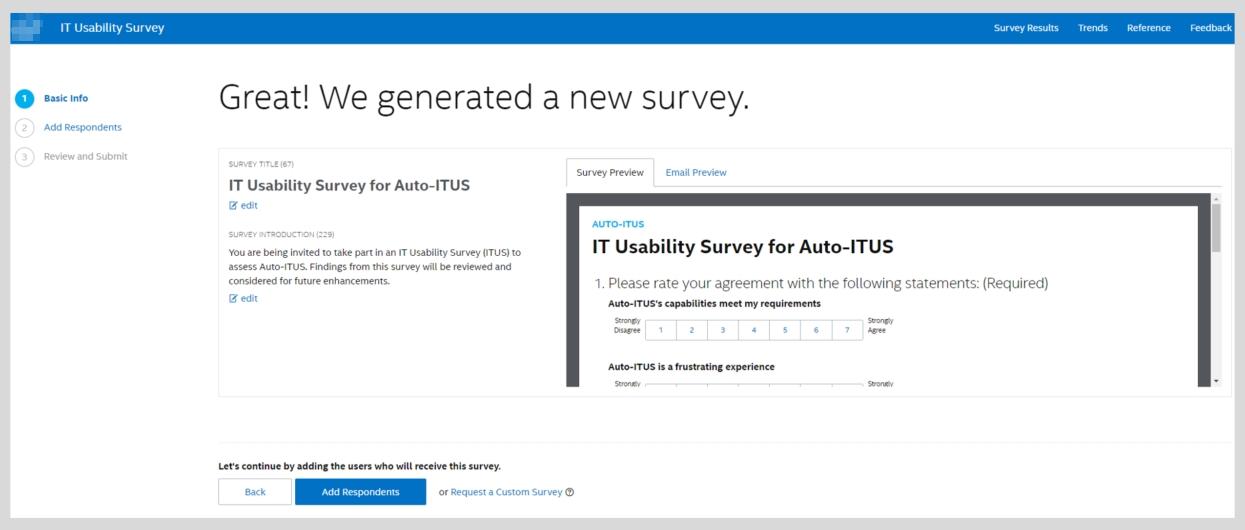 Personalized Survey Creation