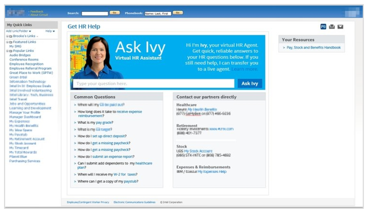 Redesigned Get HR Help page. The design met all the program requirements and constraints, while providing an enhanced employee experience.