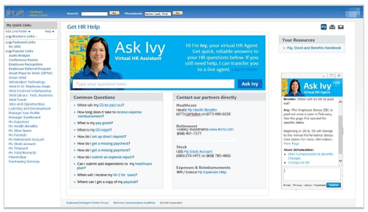 Redesign Get HR Help page, with virtual agent launched.