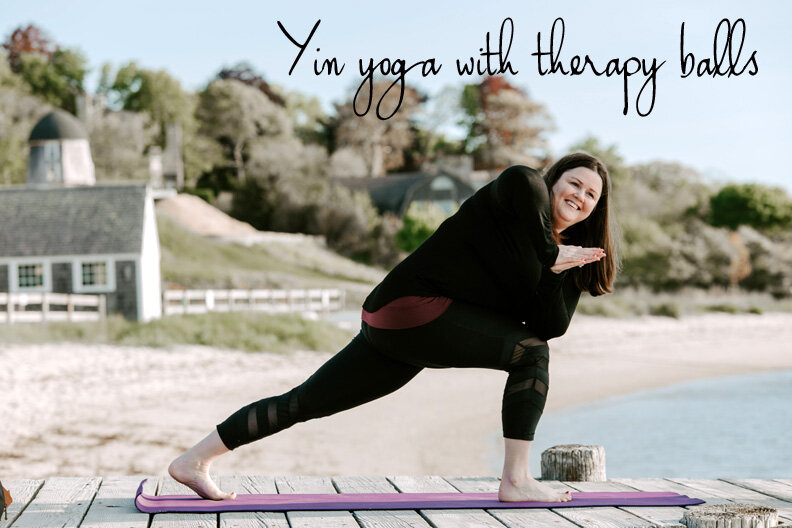 Yin yoga with therapy balls