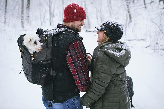 Ashley, Chad and one of the pups.