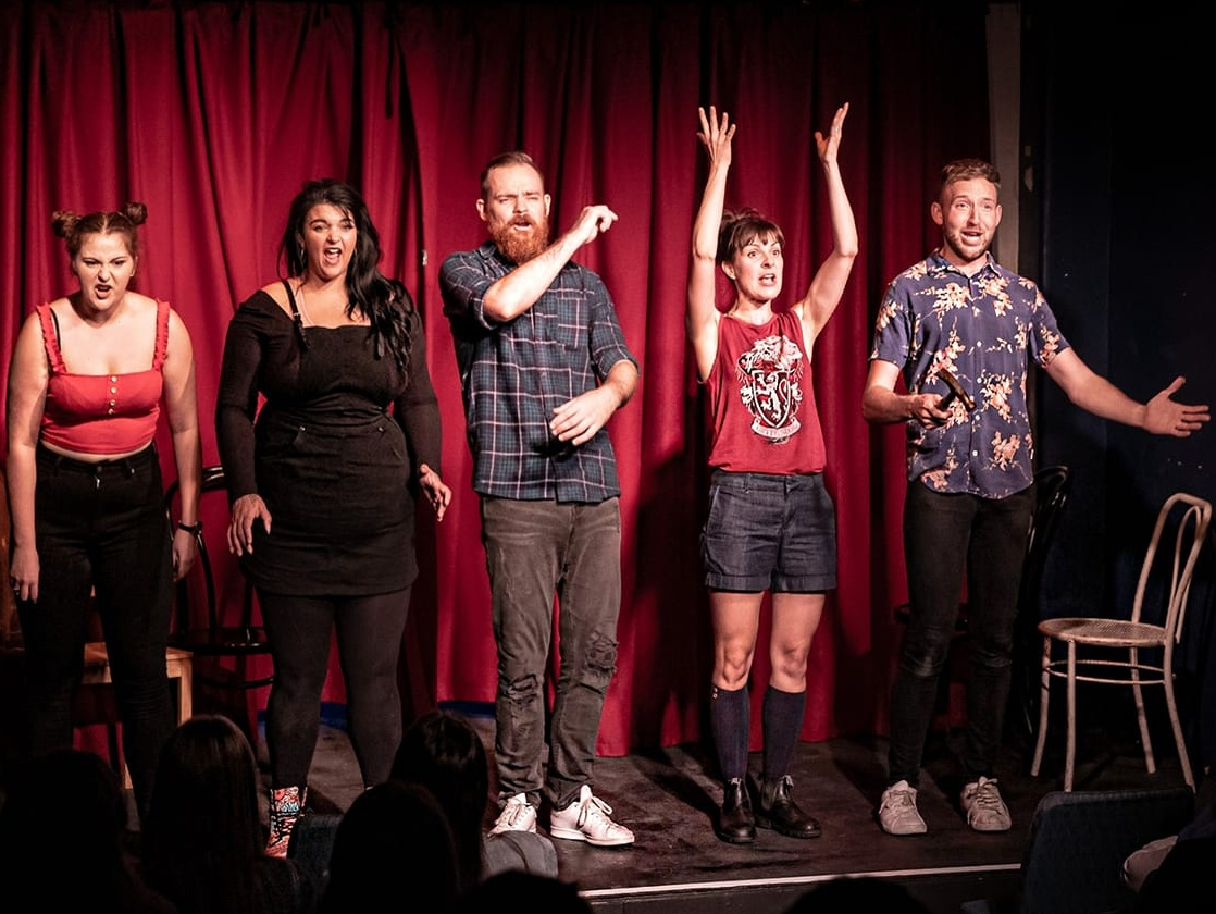 2019 Melbourne cast: Georgie Potter, Sarahlouise Younger, Tim Lancaster, Ashley Taylor, Zachary Alaimo
