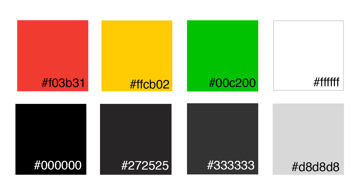 — 01 COLOUR - Colour was to be kept minimal and bring focus to data and information.• Red, Yellow, & Green — Accents & Information• Monochromatic — Background & Text