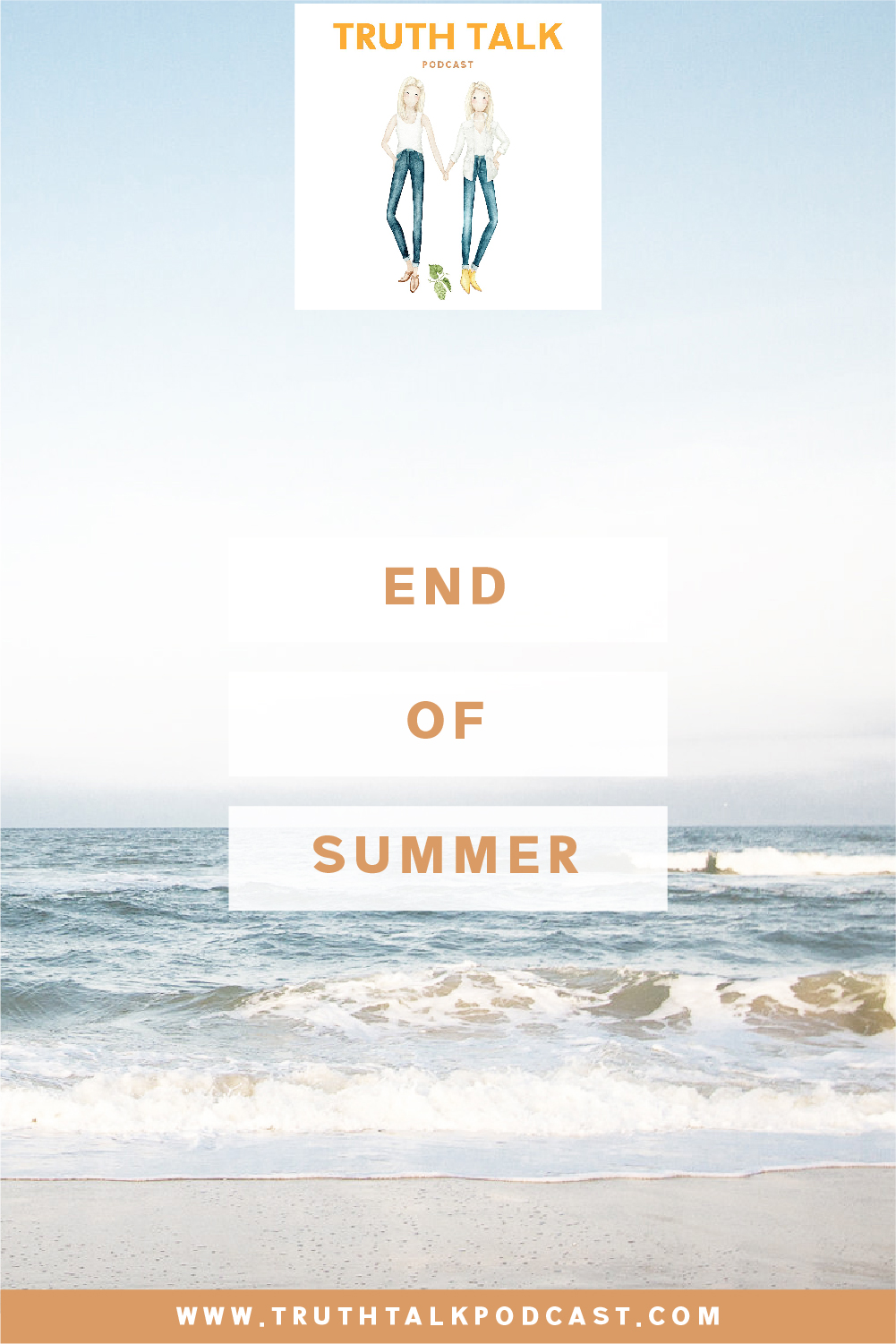 End of Summer #truthtalkpodcast Join us for another Truth Talk Podcast Episode as we wrap up summer while trying to maintain our dignity.  Or sanity.  Or something.  Let's face it, being around our children 24/7 is a challenge.  A fun and special challenge, for sure.  But still a challenge.  And we are almost to the finish line!  This episode will hopefully make you smile as you hear our sister banter, and also make you feel that you are not alone on this journey!