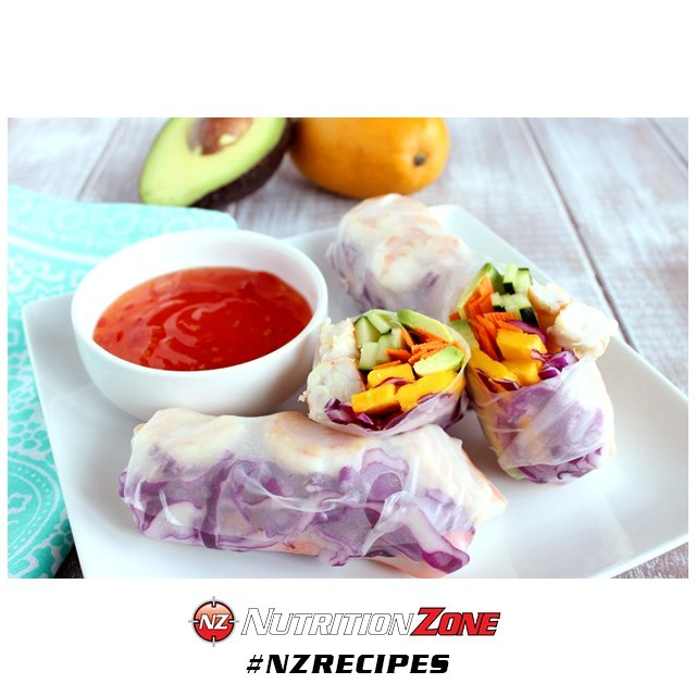 Snack on these 🍤 Mango Shrimp Summer Rolls!!! •• WHAT YOU NEED: - 1 Avocado - 1 Mango - 1 Cucumber - 2 Carrots - 1 cup Red Cabbage, shredded - 24 Cooked Shrimp, peeled and deveined - 8 Spring Roll Skins •• GET COOKIN: 1. Cut the avocado, mango, cucumber, and carrots thin lengthwise.If needed cut each strip in half to make sure they are no longer than 3 inches. 2. With all your ingredients nearby, dip one spring roll skin into warm water for 3 seconds and remove to a large cutting board. 3. Layer the ingredients in the lower middle of the spring roll skin starting with the shrimp first. 4. Starting from the bottom, fold the skin over the filling, then fold in the sides, and carefully & tightly roll it away from you. 5. Serve with sweet chili sauce and enjoy! #NutritionZone #TeamNZ | #NZrecipes . . . original recipe: TheLiveFitGirls.com . . . #delicious #healthy #yummy #food #eatclean #homemade #healthyfood #foodstagram #healthychoices #instagood #foodblogger #cleaneating #foodgasm #foodpics #health #fitness #foodphotography #nutrition #weightloss #healthylifestyle #weightlossjourney #healthychoices #fitnessjourney #foodie #workout #fitfam #getfit