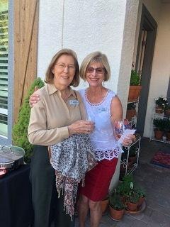 Victoria Kadenacy and Hostess Lindy Leonard