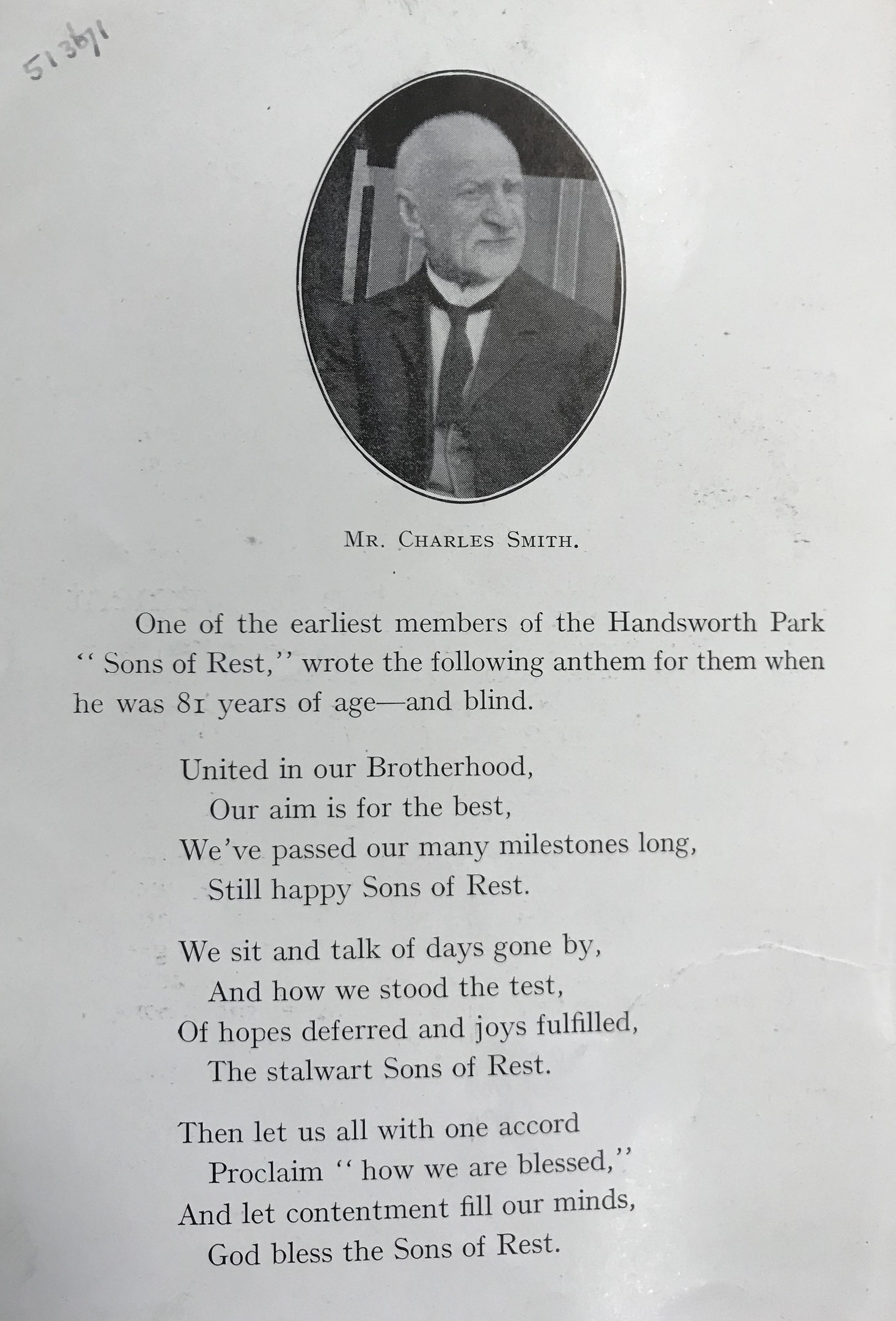 CHARLES SMITHS POEM ABOUT THE SONS OF REST