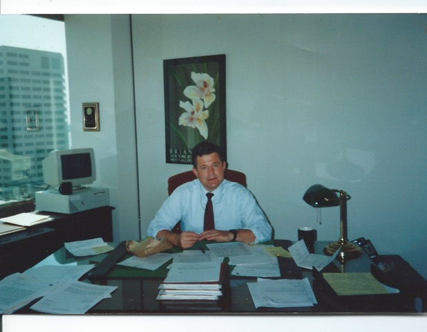 Barry Sheldahl (in his office in the mid-1980s)