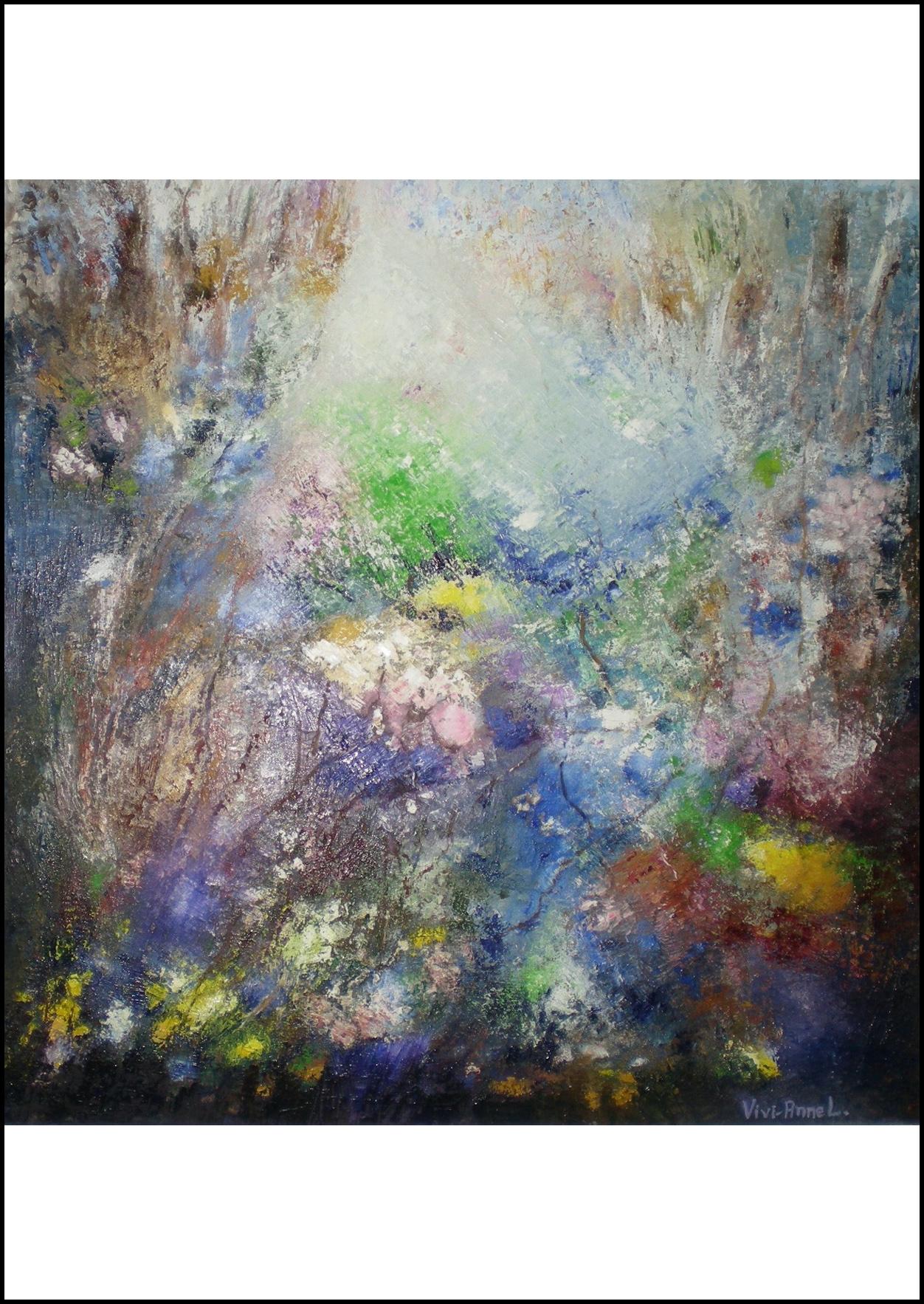 Evig pånyttfödelse - ___Konstverk med en explosion av färger i återkommande mönster som upprepas och pånyttföds som livet självt. Allt detta skapar en drömlik skönhetsupplevelse med inslag av mysterium. Ett personligt uttryck som hela tiden utvecklas på ett spännande sätt!***VIVI-ANNE LENNARTSSONhttp://www.viviannel.comTidigare direktör på svenska studenthemmet i Paris