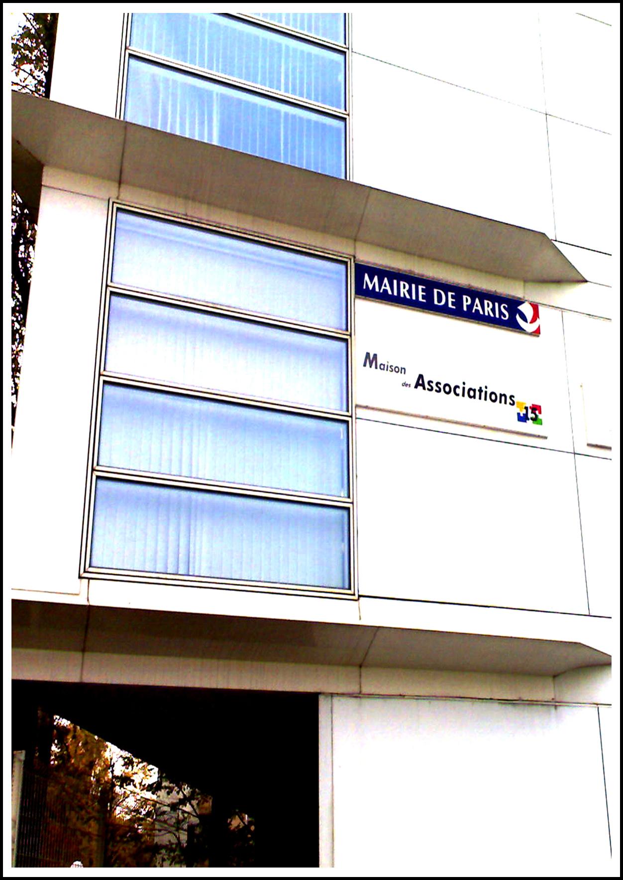 MDA 15EME - MAISON DES ASSOCIATIONS PARISExpo: 15/12/2012Vernissage: 15/12/2012