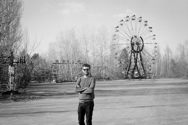 Jack Whitehall at the abandoned fun fair in Pripyat / Chernobyl / April 2018