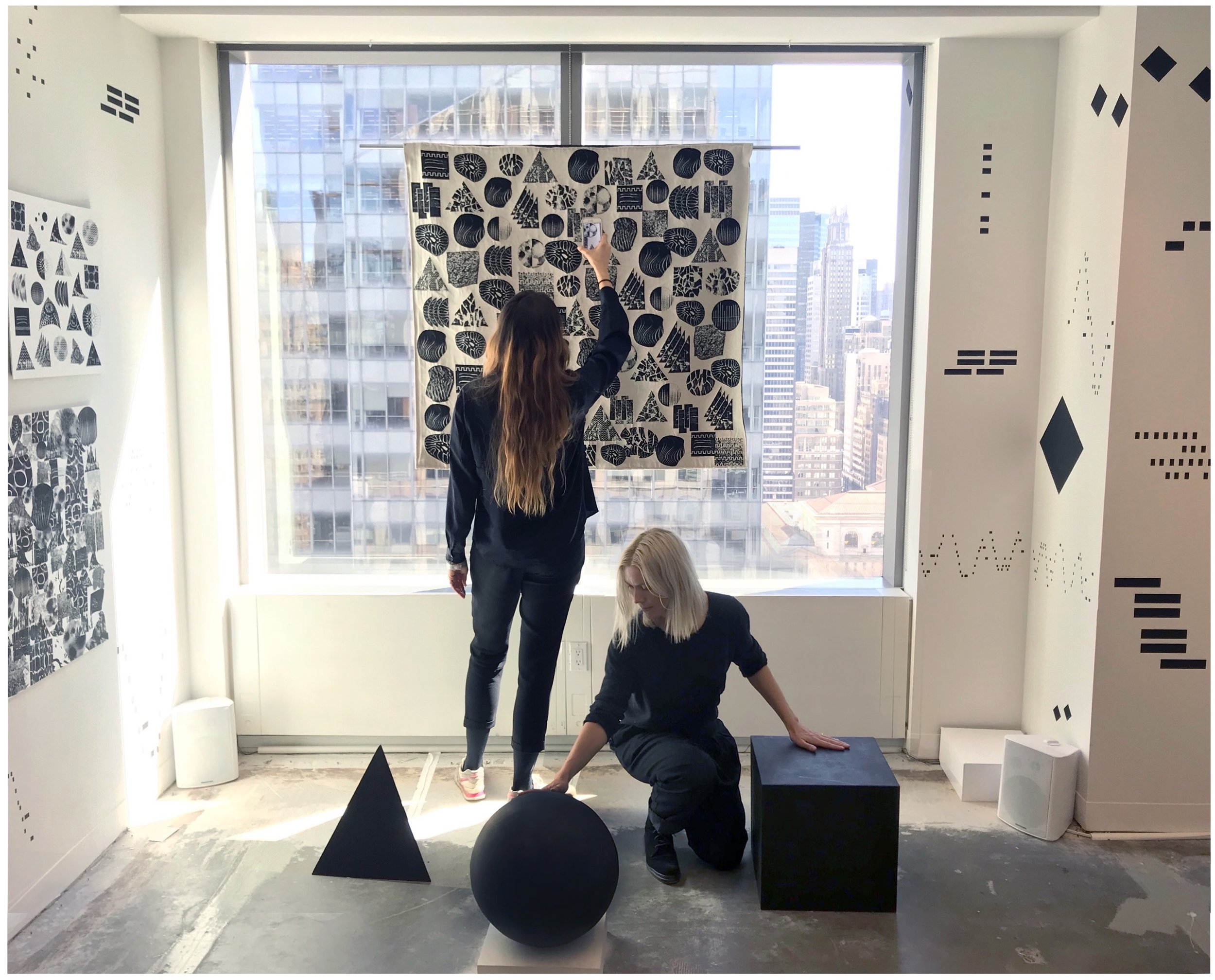 Louise Foo (left) and Martha Skou (right) Spring Break Art Show, 2018