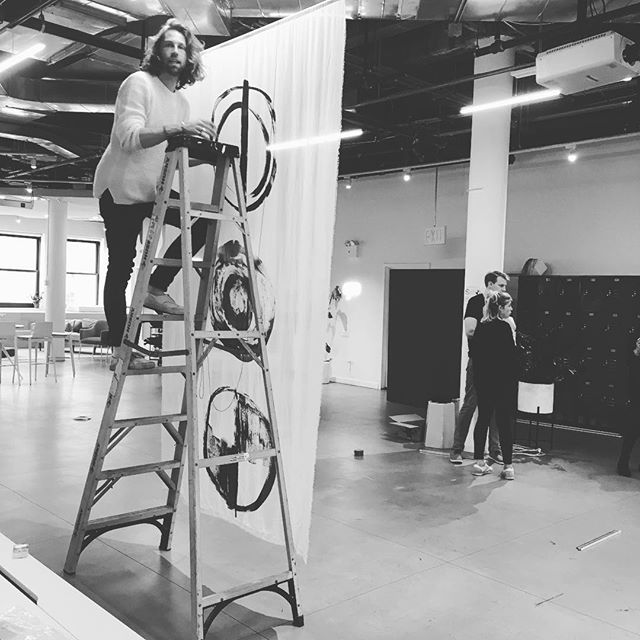 Hi New York friends! Installing some new playable @fooskou textiles that will be activated by @loui_foo & @martha_skou tomorrow at @wix come join us in the interaction room!! Text for link to rsvp ➿🎶✔️ #textile #sound #interactiveart