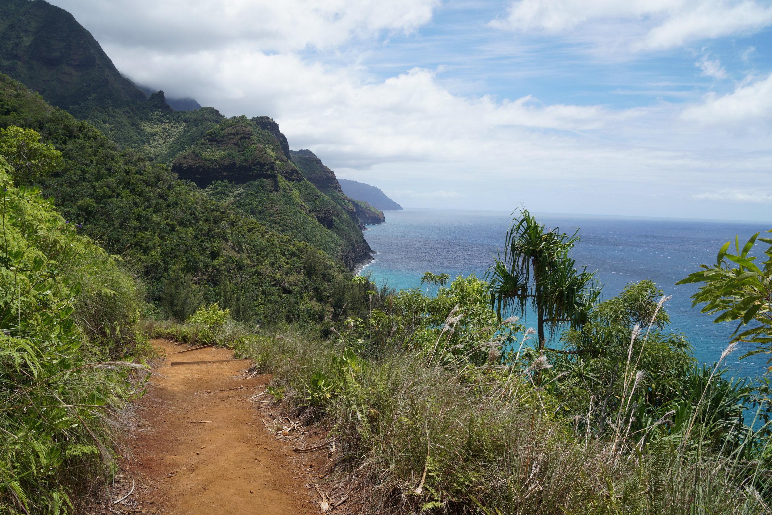 Der Trail wird von dieser spektakulären Kulisse begleitet!