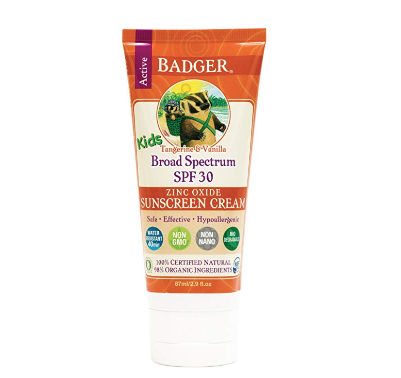badger sunscreen / realistic plant-based mama review