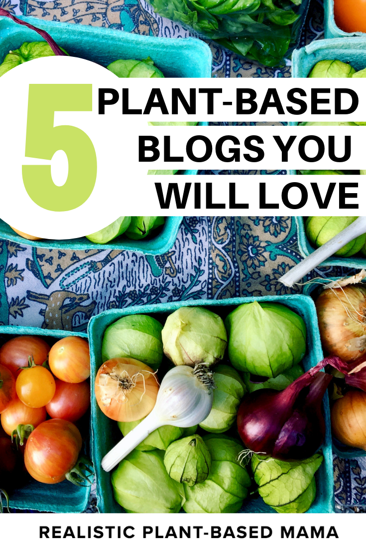 5 plant based blogs you will love / realistic plant based mama