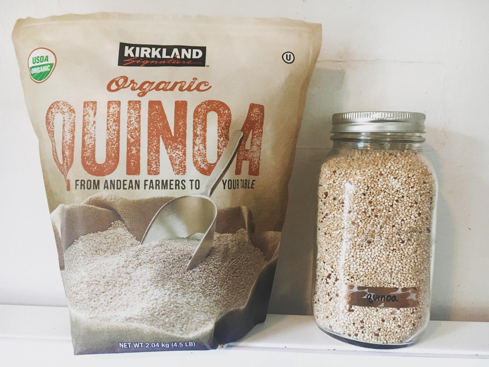 Quinoa is one of my top non meat protein sources but did you know there are dozens more? Learn about more vegan protein options for even the most meat lover person you know! www.realisticplantbasedmama.com