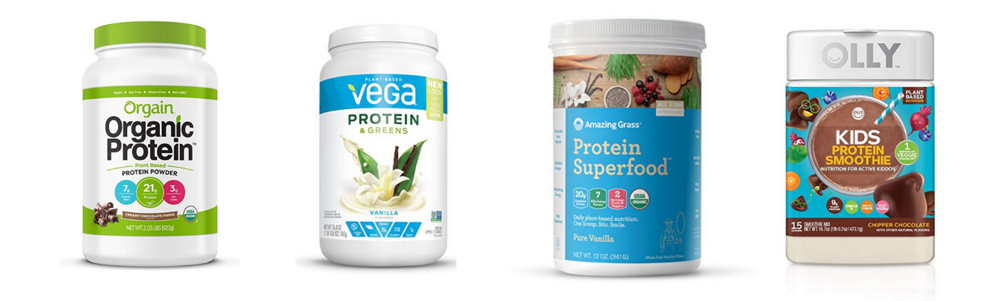 There are so many non meat protein options if you are following a plant-based or vegan diet. You'll find resources to fit every family and budget here including plant based protein powders and more!  www.realisticplantbasedmama.com