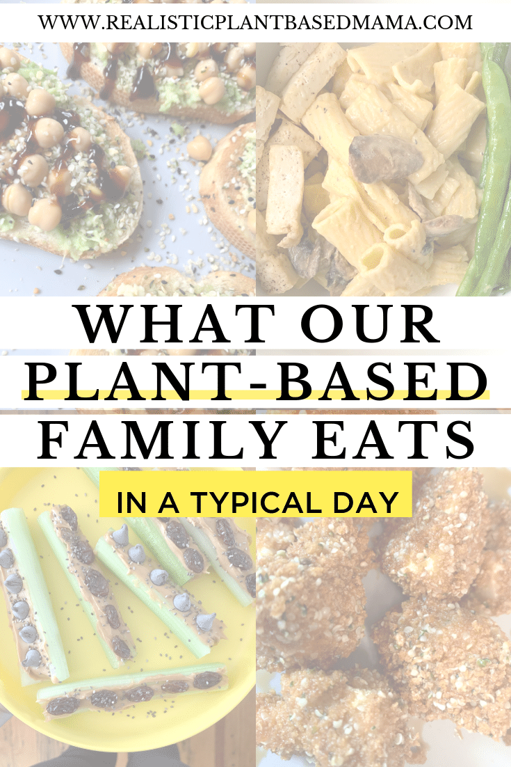 Do you ever wonder what vegans eat? Or how to raise healthy vegan kids and what to feed them? If you've ever wanted a sneak peek into what a relatable and average midwest family eats in a day, you'll love this. Check out what our plant-based family eats in a typical day complete with recipes and tips!