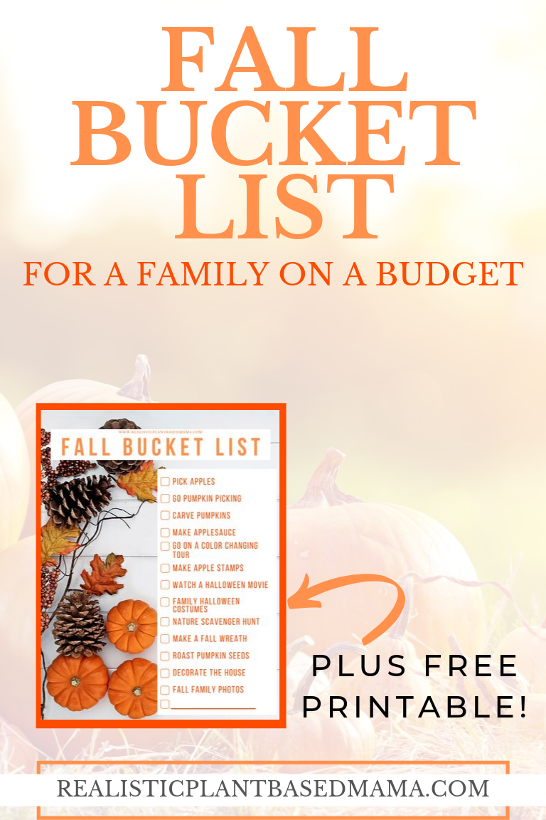 top 10 fall activities for families / realistic plant based mama