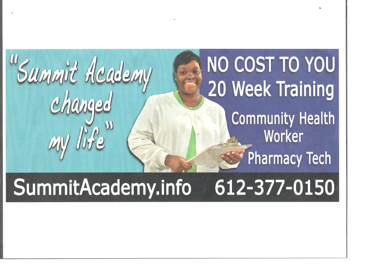LaTanya Black featured on a Summit Academy OIC 2016 Billboard throughout the Twin Cities.