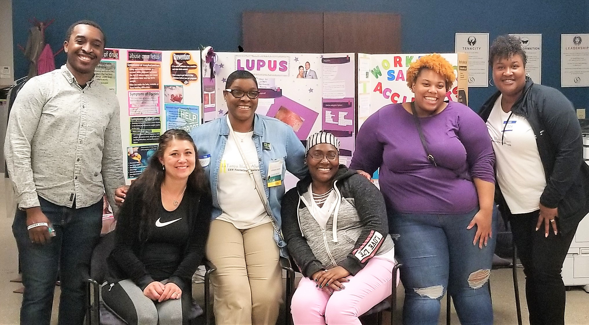 Summit Academy OIC CHW Health Fair with LBAMS Mentor and Mentees.