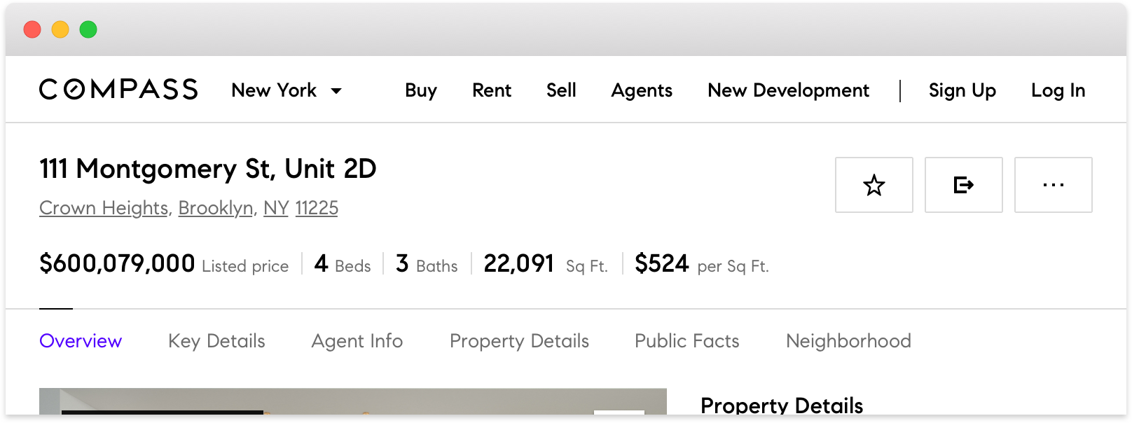 From 975px to 800px the listing details are wrapped to a 3rd line.  Widths below 800px break to our tablet and mobile layouts.