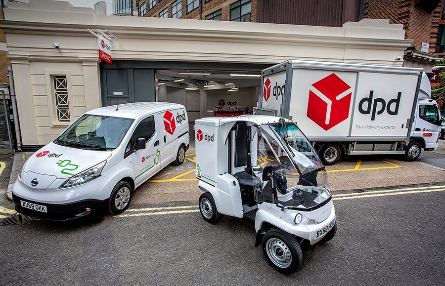DPD has a strong environmental programme - this is its first all-electric depot at Westminster, London