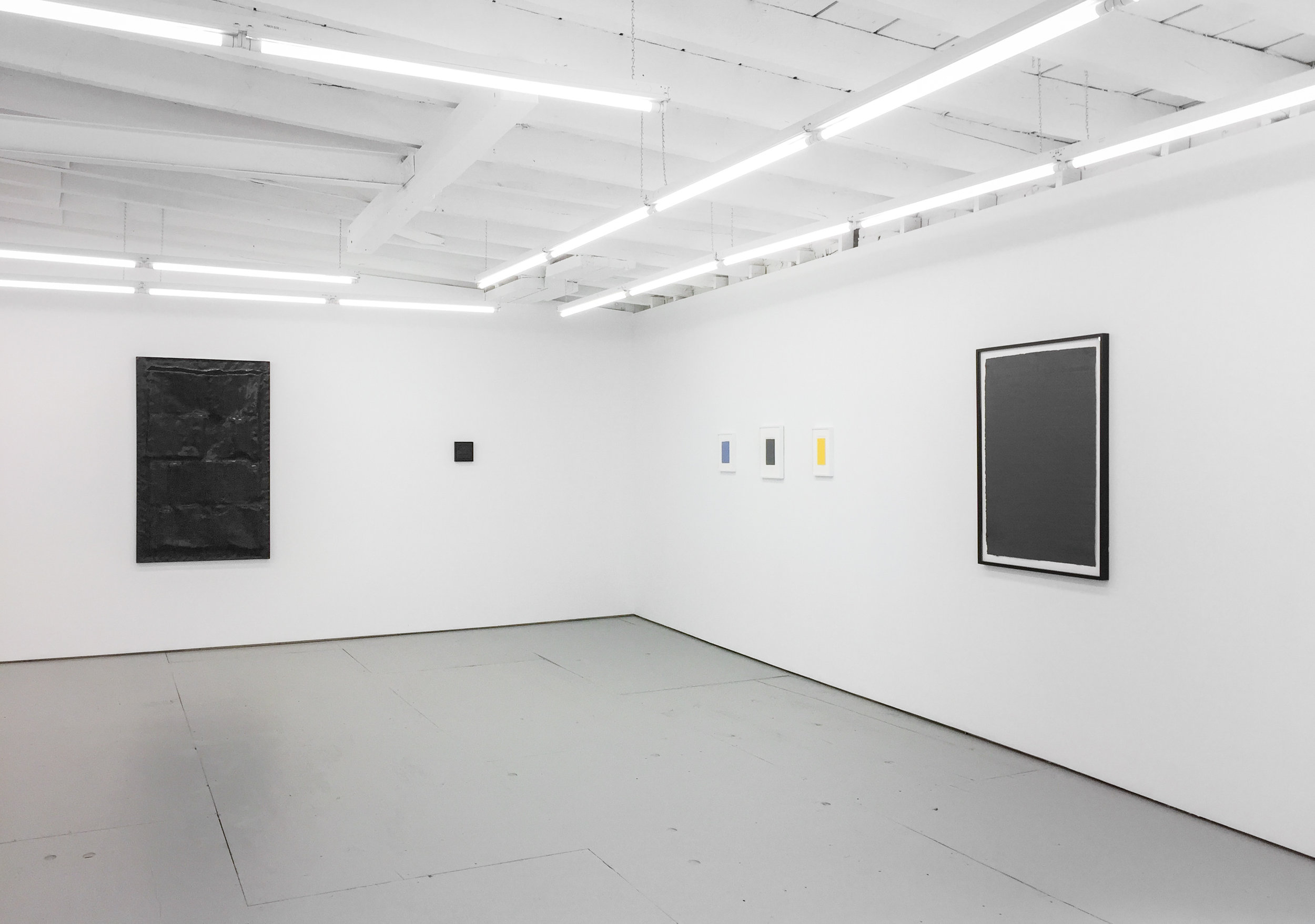 Installation view,  Rosy Keyser and Eleanore Mikus , 2019.