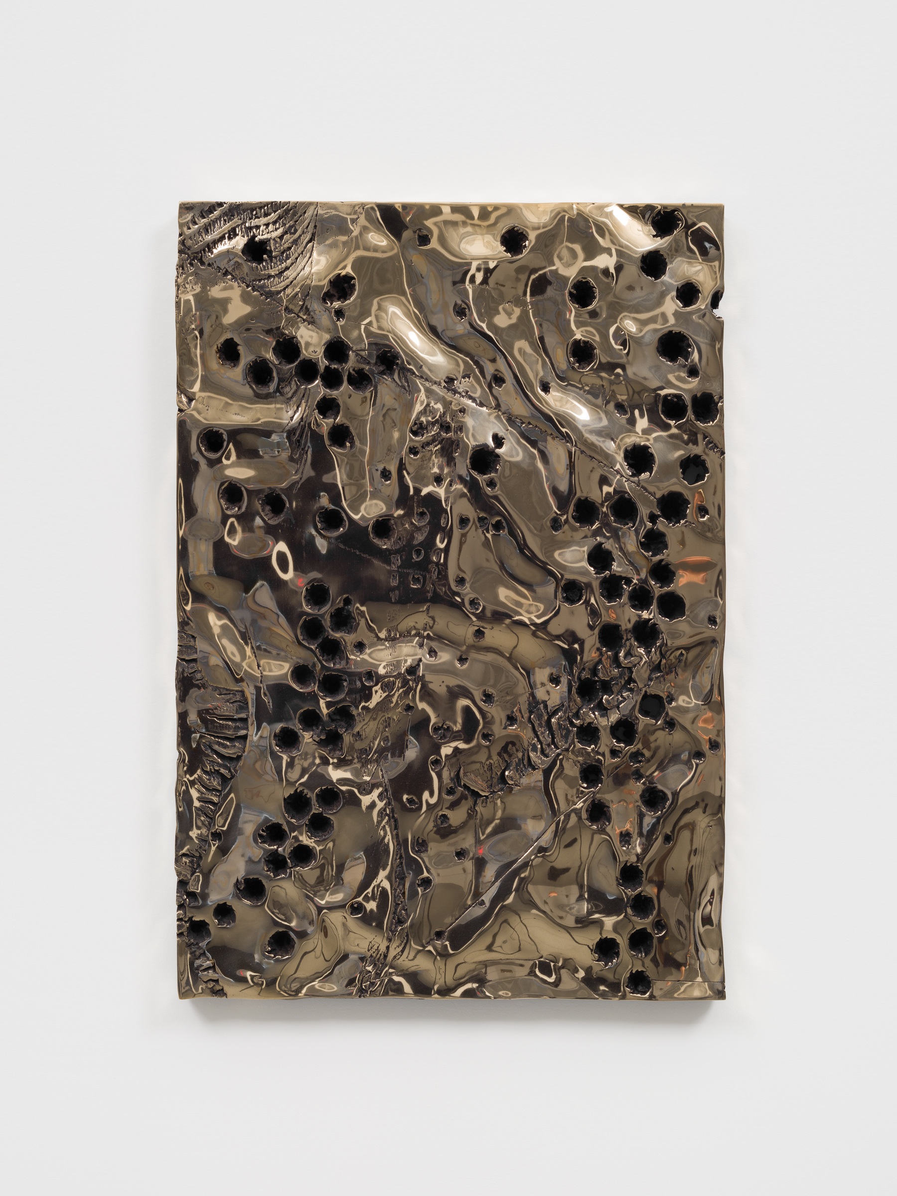 Davina Semo   Ripple,  2019 Polished and patinated cast bronze 23 3/4 x 16 1/4 inches