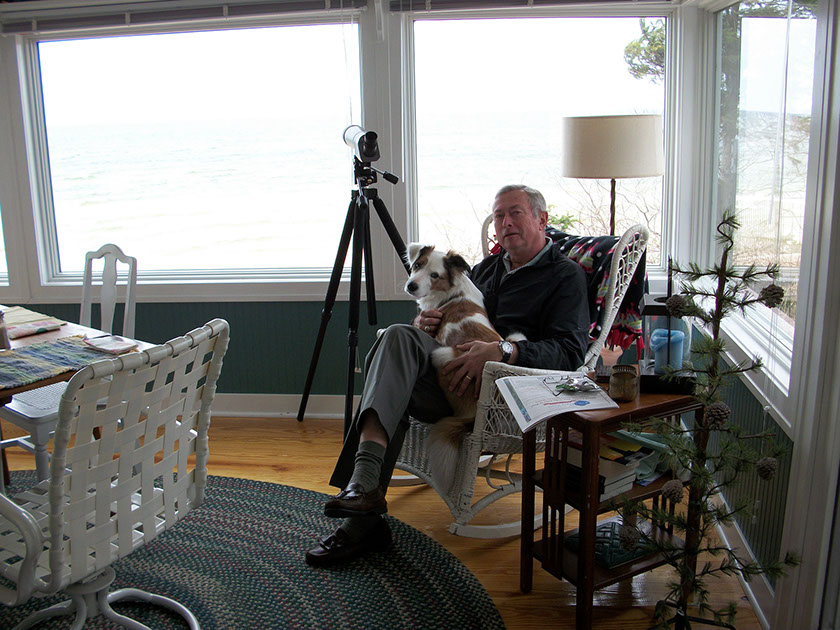 THE AUTHOR AND SYDNEY IN FAR FAR VIEW'S SUNROOM
