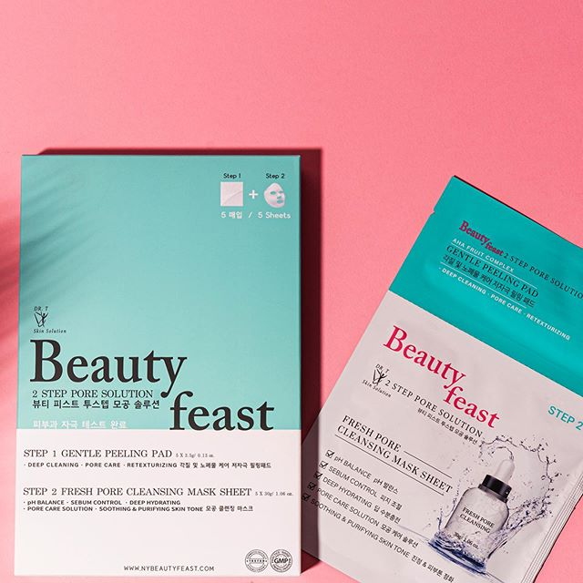 How's your weekend ?  It was really hot 😵🔥 Let's prepare for tomorrow with beauty feast 2Step Pore Solution! Time to get rehydrated.  #beautyfeast#masksheet#facailmask#skincare#beauty#cosmetic#kbeauty#2stepporesolution#makeup