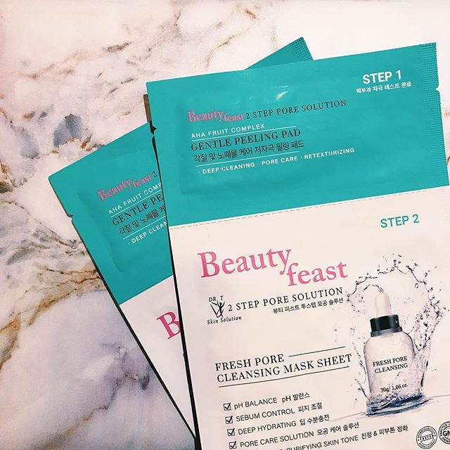 Treat yourself to ultimate relaxation with our Beautyfeast 2Step Pore Solution! This purifying face mask helps remove impurities and stimulates cell renewal.  The result: deeply cleansed, soft, and smooth skin.  Enjoy freeshipping on our website ✨  #beautyfeast#2stepporesolution#facialmask#skincare#sheetmask#kbeauty#beauty#makeup#cosmetic