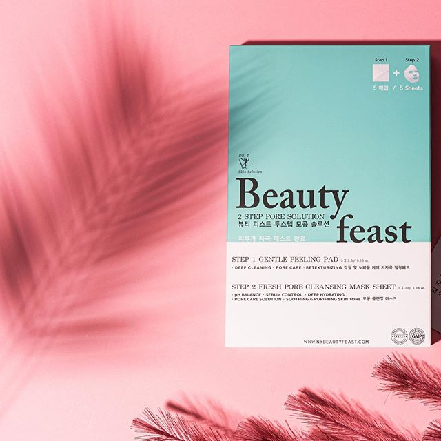 Treat yourself to ultimate relaxation with our Beautyfeast 2Step Pore Solution! This purifying face mask helps remove impurities and stimulates cell renewal.  The result: deeply cleansed, soft, and smooth skin.  Enjoy free shipping on our website ⚡️ #beautyfeast#2stepporesolution#facial#sheetmask#facialmask#makeup#skincare#hydration#kbeauty#pore#beauty