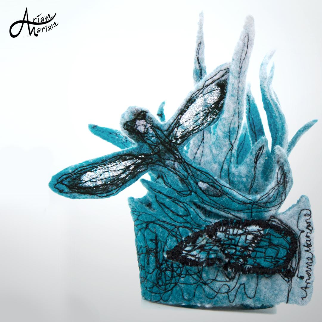 Min art textile sculpture