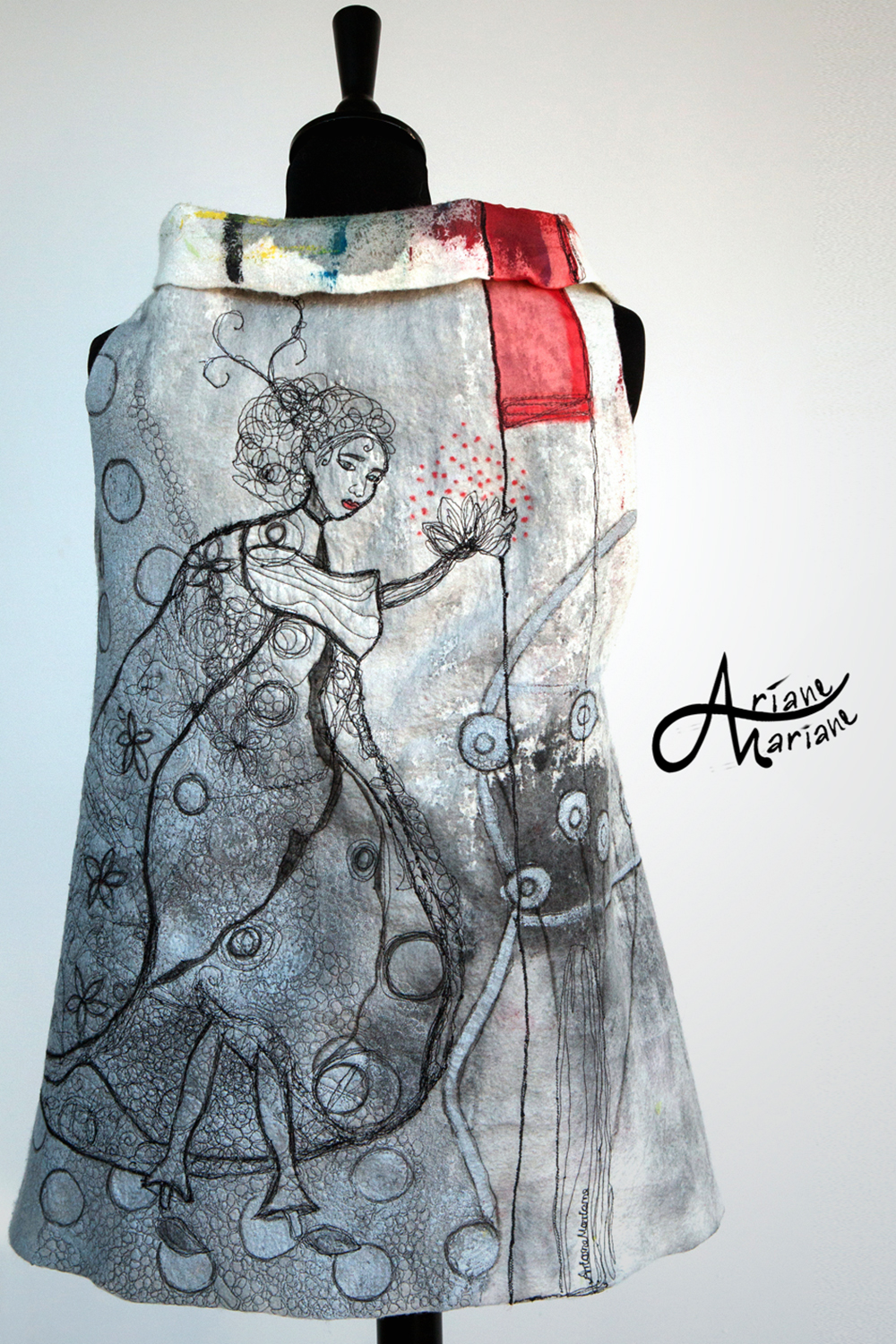 Same art vest shown from the other side. But please don't call it art ;)!