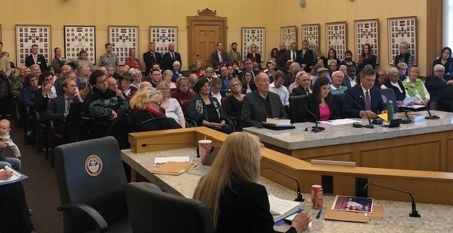 Colorado Senate State, Veterans and Military Affairs Committee hearing, with NPV bill sponsor Senator Mike Foote and Secretary of State Jena Griswold testifying in favor of the bill