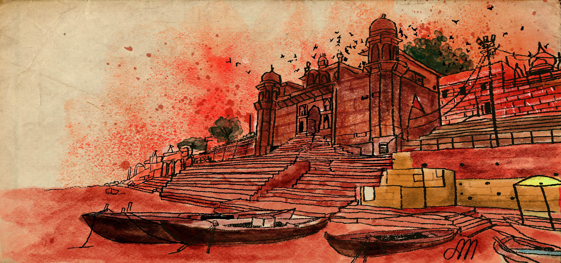 Banaras Illustration for Ohfab.in