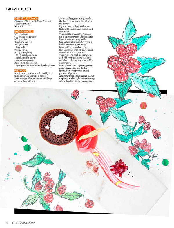 Some food paintings for Grazia India.  Watercolor on paper.