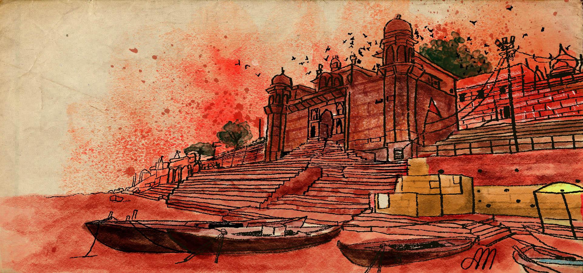 Banaras Illustrations for ohfab.in