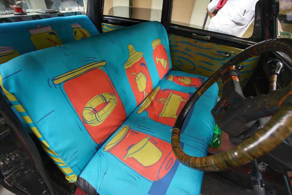 Taxi upholstery design with TaxiFabric.