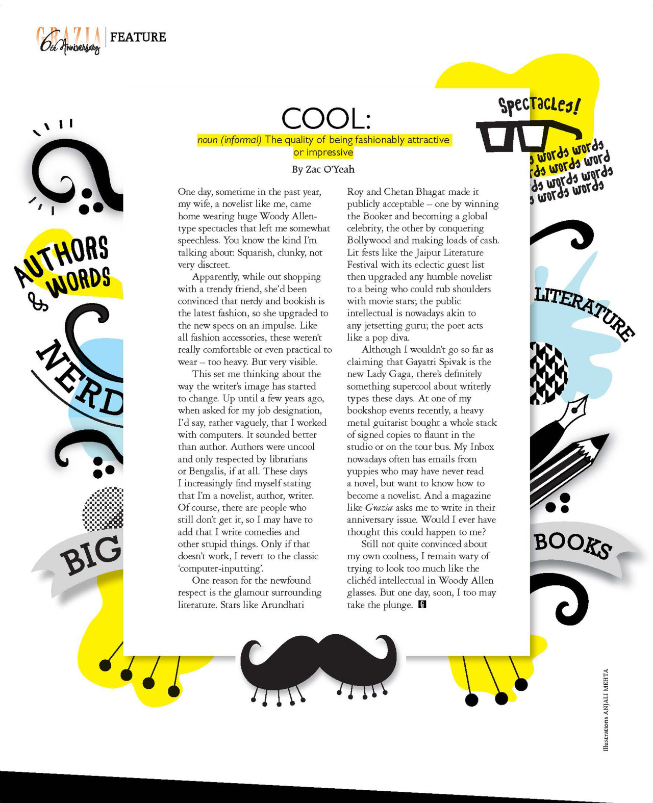 Crazy Sexy Cool Illustrations for Grazia India