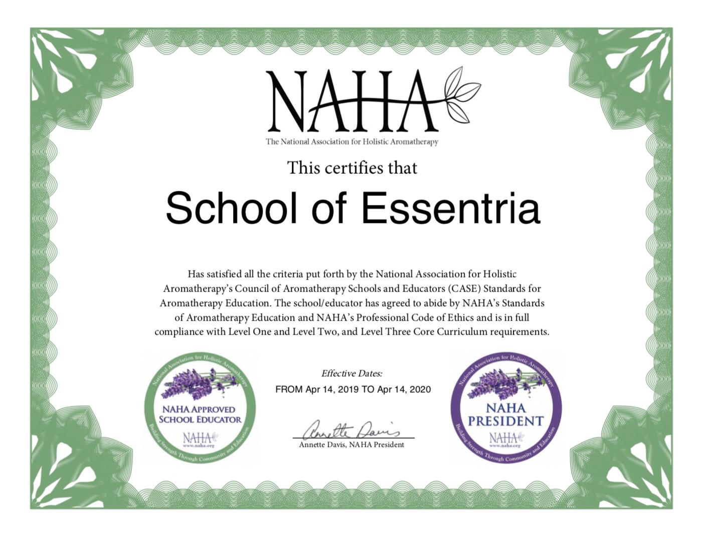 SCHOOL OF ESSENTRIA - NAHA CERTIFICATE.png
