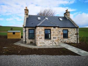 Aldivalloch Cottage - The second of the completed rebuilt and restored houses as part of the regeneration of the Cabrach and Glenfiddich Estates in association with EDF
