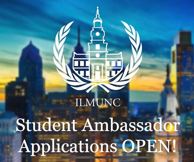 Announcing ILMUNC's new Student Ambassador Program! If you are interested in outreach, marketing and leadership, apply to be a Student Ambassador today! Help our ILMUNC team reach out to students within your school and region to get them more involved with MUN and to register for ILMUNC! You'll communicate directly with ILMUNC secretariat on your outreach progress, while also marketing the conference through your own creative ideas. This year we are also offering a middle school the opportunity to attend ILMUNC to foster public speaking, comprehensive writing skills and collaboration within the younger generations. As a Student Ambassador you would be in charge of helping us select that school! Become a part of the ILMUNC family and help us make this conference the best one yet!  The link to the application can be found below as well as in our bio!  https://docs.google.com/forms/d/e/1FAIpQLSeeV1rQU8joOrubpy-qQORpTb9BUbv8tR2cYoqFhrx5-_JmEQ/viewform?usp=sf_link