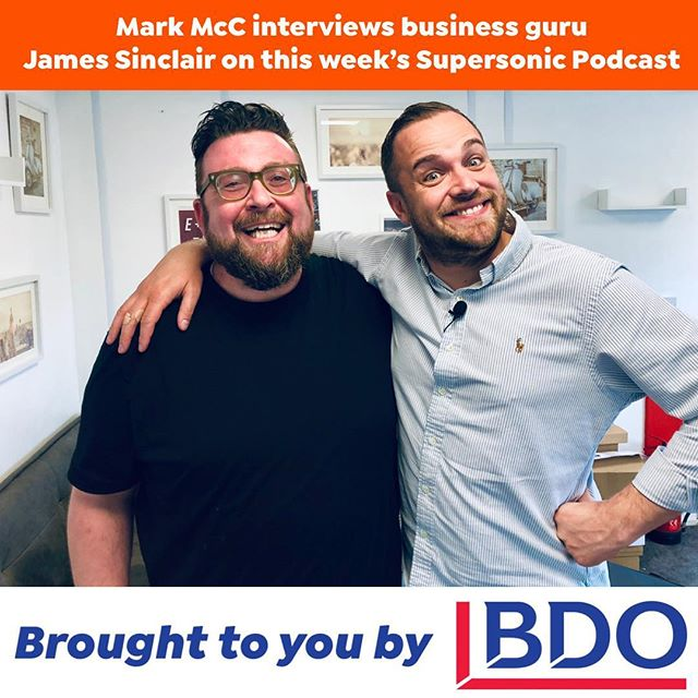 Need to chill out for an hour this weekend? Listen at the gym, whilst shopping, sunbathing or doing some DIY? This week on The Mark McC Supersonic Food Marketing Podcast, our hilariously entertaining guest is Serial Entrepreneur and Partyman @_jamessinclair who talks about basic restaurant business sense, what investors want and how having just a profitable job is no good. Brought to you by @bdo_uk . 🔗 in bio . . . . . #applepodcast #brand #marketing #digital #social #business #clown #essex #tvstar #celebrity #motivation #guru #content #restaurants #food #listen #listenup #profit #money #makemoney #entrepreneur #host #guest #alansugar #richardbranson #screwitletsdoit #podcastguest