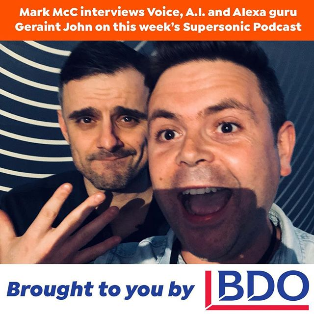 ‪Incredible NEW Epsiode of The Mark MCC Supersonic Food Marketing Podcast with @geraintjohn where we talk all about Alexa, A.I. and Voice and what that means for your hospitality, food and drink business.  Tune in here: https://band.link/MarkMCC ‬🔗 in bio ‪Brought to you by @bdo_uk . . . . . #voice #ai #ui #ux #alexa #googleassistant #applehome #googlehome #nest #internetofthings #connectedhome #voicepodcast #wales #welsh #celtic #brothers #changeagent #seo #ppc #search #amazon #hospitality #booknow #bookatable #food #drink #fmcg #delivery #deliveroo #ubereats