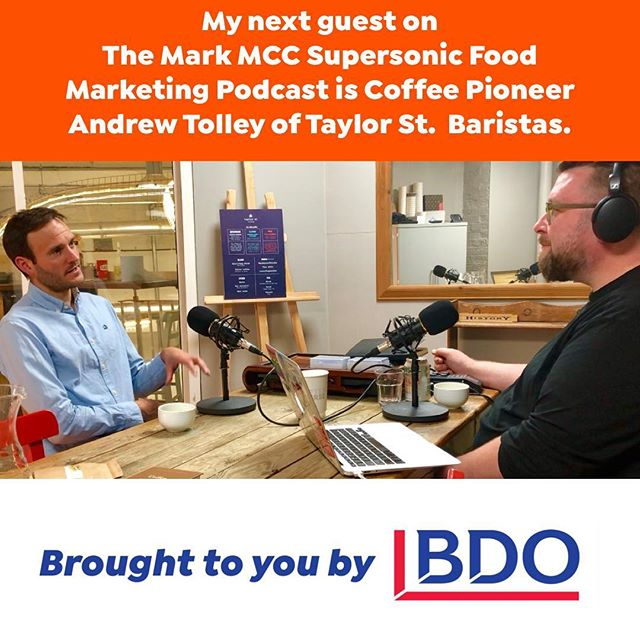 This week's Supersonic Podcast episode is with actual coffee royalty - Andrew Tolley who is 1/3 of the amazing @taylorstcoffee - listen here. Fascinating story, man and experience. Brought to you by @bdo_uk 🔗 in bio . . . . . #coffee #allegra #specialitycoffee #roast #crafted #craftcoffee #australia #thirdwave #espresso #latte #flatwhite #londoncoffeeshops #podcast #latteart #business #takeaway